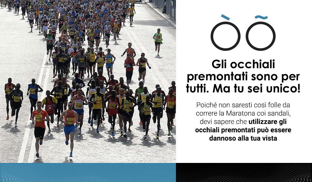 Correre la Maratona di Roma… coi sandali